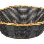 Royal Industries Basket-Oval Blk/Gold Vinyl – 1 Dz Per Pack