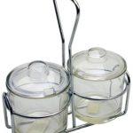 Royal Industries Condiment Jar Holder 2 Jars