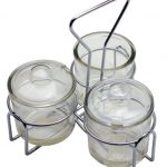 Royal Industries Condiment Jar Holder/ 3 Jar