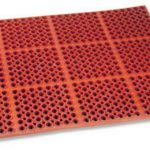 Royal Industries Grease Resistant Mat 3X5Red