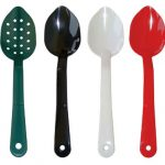 Royal Industries Perf 11″ Polycarb Spoon Red