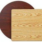 Royal Industries Table Top Oak/Walnut 24X24