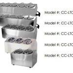 Steril-Sil 6-hole Condiment DispenserCC-LTC-6SW
