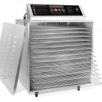 TSM Digital Touch Screen D-14 Stainless Steel w/Chrome 14-Tray Insulated Dehydrator (220V)