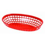 Thunder Group 9 3/8″ Oval Basket, Red