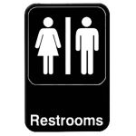 Thunder Group 6″ X 9″ Information Sign With Symbols, Restrooms