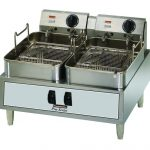 Toastmaster ElectricCountertop Fryer, (2)30lb. Tanks, 208/240V