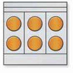 Toastmaster Range Six Round Hotplates, Convection Oven Base