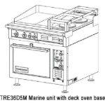 Toastmaster Range Two 12″ x 24″ Hotplates, Two Round Hotplates – MARINE MODEL, Deck Oven Base