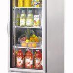TurboAir New Maximum Glass Door Refrigerator, one-section, 23 cu. ft, 1/4 hp, NSF, UL, cUL, ETL, cETL, ENERGY STAR®