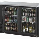 TurboAir Back Bar Cooler, two-section, Glass Doors, 58.8″ wide, 37″ high, self-contained, 1/3 HP, NSF, UL, cUL, ETL, cETL