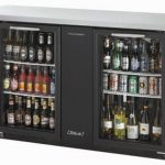 TurboAir Back Bar Cooler, two-section, Glass Doors, 69″ W x 27.25″ D x 37.1″ H, self-contained, 1/3 HP, NSF, UL, cUL, ETL, cETL