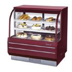 TurboAir Bakery Case, non-refrigerated, 48 1/2″ W, (2) adjustable cantilevered wire shelf, cETLus, ETL, 115V/60/1, 0.6 amps