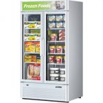 TurboAir Super Deluxe Glass Merchandiser Freezer, two-section, 37 cu. ft, 1-1/4 HP, 115v/60/1-ph, 12.0 amps, ETL, cETLus