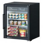 TurboAir Super Deluxe Glass Merchandiser-Counter Top Freezer, one section, 5.9 cu. ft, white interior, 1/3 HP, ETL, cETLus