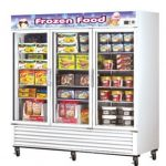 TurboAir Freezer Merchandiser, three-section, 72 cu. ft, self-contained, white exterior, (2) 1-1/4-HP, ETL, cETL