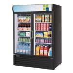 TurboAir Refrigerated Merchandiser, two-section, 50 cu. ft, black cabinet, 1/2 HP, NSF, UL cUL, ETL, cETL
