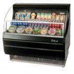 TurboAir Horizontal Open Display Merchandiser, low-profile, 39″ W x 33 1/2″ D x 45 3/4″ H, black exterior, 115v/60/1, 11.0 amps, 1/2 HP, ETL, cETLus