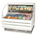 TurboAir Horizontal Open Display Merchandiser, low-profile, 50 3/4″ W x 33 1/2″ D x 45 3/4″ H, SS interior, white exterior, 115v/60/1, 11.0 amps, 1/2 HP, ETL, cETLus