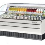 TurboAir Horizontal Open Display Merchandiser, slim-line, 75 7/8″ W x 3 1/24″ D x 41 1/2″ H, SS interior, white exterior, 115v/60/1, 14.5 amps, 3/4 HP, ETL, cETLus
