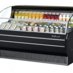 TurboAir Horizontal Open Display Merchandiser, slim-line, 75 7/8″ W x 33 1/2″ D x 41 1/2″ H, SS interior, black exterior, 115v/60/1, 14.5 amps, 3/4 HP, ETL, cETLus