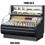 TurboAir Top Display Dry Case-High model, for Open Display Merchandiser TOM-75, 75 5/8″ W x 12 1/2″ D x 13 3/4″ H, SS interior, black exterior