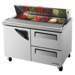 TurboAir Super Deluxe Sandwich/Salad Unit, two-section, 12 cu. ft, (1) stainless steel door w/recessed handle, 1/3 HP, NSF