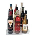 Update International Bottle Holder Acrylic 3-Tier 9 Bottles