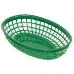 Update International Fast Food Basket 9x6x1-3/4 Green