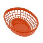 Update International Fast Food Basket 9x6x1-3/4 Red