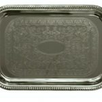 Update International Serving Tray Oblong Chrome Pltd 20×14