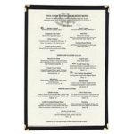 Update International Menu Cover 9 x 14-1/2 Black Single Page (fit standard legal size paper – 8-1/2 inch x 14 inch)