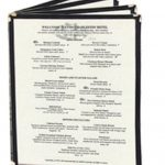 Update International Menu Cover Book Blk 9-14 x 12 Four Page