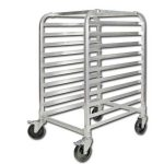 Winco 10 Tier Aluminum Rack With Brake, Space:3″