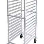 Winco 20 Tier Aluminum Rack W/Brake, Space:3″