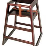 Winco Stacking Hi-Chair Mahogony (Assembled)