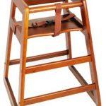Winco Stacking Hi-Chair Walnut (Assembled)