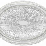 Winco Oval 14″ X 10″ Chrome Tray 0.5Mm