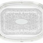 Winco Oblong Chrome Tray W/Integrated Hdl