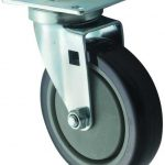Winco Universal 2 3/8″ X 3 5/8″ Plate Casters, 5″ Wheel, 2Pc Set