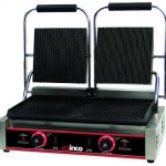 Winco Electric Panini Grill W/2 Sets 9? Ribbed Plates