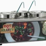 "Winco Soup Merchandise With Three 4Qt Insets, ""Hot Hearty""; Without Menu Board"