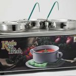 "Winco Soup Merchandise With Three 4Qt Insets, ""Kettle Fresh""; Without Menu Board"