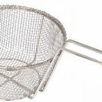 Winco 9″ Steel Round Wire Fry Basket