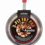 Winco 3-Ply Fry Pan 8″ W/Red Silicone Sleeve