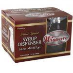 Winco 14 Oz Syrup Dispenser, (4Pcs/Color Box)