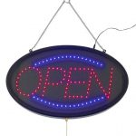 Winco Led Sign, Open W/Transparent Cover