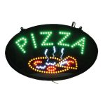 Winco Led Sign, Pizza W/Transparent Cover