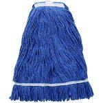 Winco 24Oz, 600G Premium Blue Yarn Mop Head, Cut Head