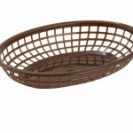 Winco Oval Fast Food Baskets, Brown